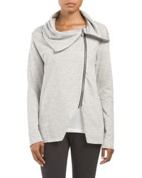 Tj Maxx - Gray Made In Usa French Terry Asymmetrical Jacket - Lyst