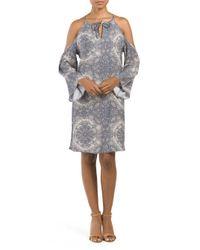 Tj Maxx - Gray Cold Shoulder Tunic Dress - Lyst