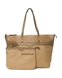 Tj Maxx | Brown Take Away Zip Tote With Wristlet | Lyst