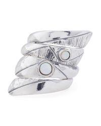 Tj Maxx - Metallic Made In Israel Sterling Silver Opal Wrap Ring - Lyst