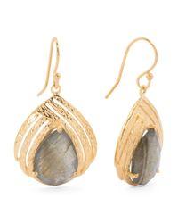 Tj Maxx | Metallic Made In India Sterling Silver Stone Teardrop Earrings | Lyst