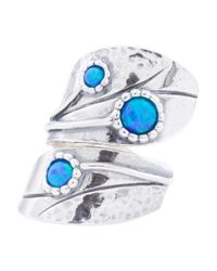 Tj Maxx | Blue Made In Israel Sterling Silver Opal Bypass Ring | Lyst