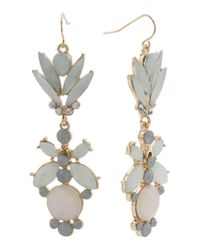 Tj Maxx - Metallic Crystal Leaf Earrings - Lyst