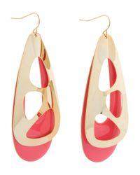 Tj Maxx - Teardrop Earrings In Gold And Pink - Lyst