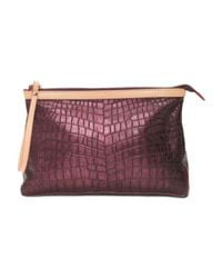 Tj Maxx - Multicolor Made In Italy Leather Croc Clutch - Lyst