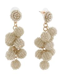 Tj Maxx - Metallic Handmade Beaded Cluster Ball Earrings - Lyst
