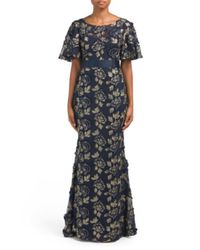 9675cbc40769c Lyst - Tj Maxx 3d Embroidered Gown in Blue