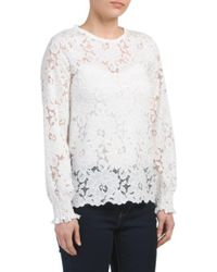 Tj Maxx - White Long Sleeve Crew Neck Boxy Top - Lyst