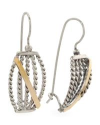 Tj Maxx - Metallic Made In Israel Sterling Silver And 14k Gold Rope Earrings - Lyst
