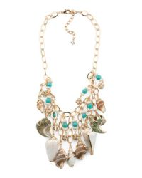Tj Maxx - Metallic Genuine Shell Statement Necklace - Lyst