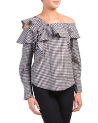 Tj Maxx - Multicolor Asymmetrical Ruffle Gingham Top - Lyst