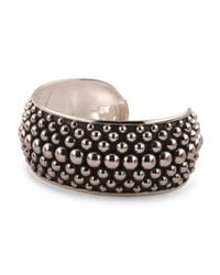 Tj Maxx - Metallic Made In Mexico Sterling Silver Beaded Large Cuff Bracelet - Lyst