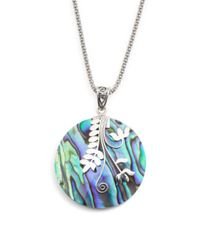 Tj Maxx - Blue Made In Bali Sterling Silver Abalone Vine Necklace - Lyst