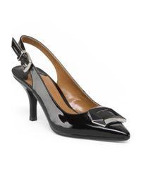 Tj Maxx - Black Pointy Toe Slingback Pumps - Lyst