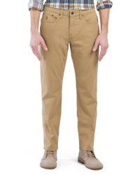 Tj Maxx - Natural Slim Straight Stretch Twill Pants for Men - Lyst