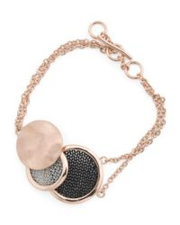 Tj Maxx | Metallic Made In Bali Sterling Silver And Mesh Multi Circle Bracelet | Lyst