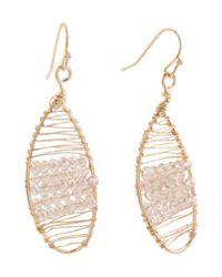 Tj Maxx - Metallic Crystal Embellished Wrapped Statement Earrings - Lyst