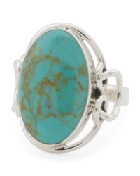 Tj Maxx - Blue Made In Mexico Sterling Silver Turquoise Abstract Ring - Lyst