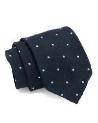 Drake's - Blue Silk Polka Dot Tie for Men - Lyst