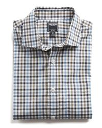 Todd Snyder - Gray Spread Collar Tattersall Shirt for Men - Lyst