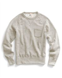 Todd Snyder - Natural Pocket Sweatshirt In Oatmeal for Men - Lyst