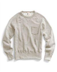 Todd Snyder | Natural Pocket Sweatshirt In Oatmeal for Men | Lyst