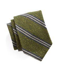 Todd Snyder   Striped Silk Wool Tie In Green for Men   Lyst
