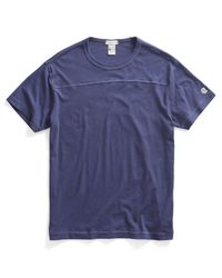 Todd Snyder - Football T-shirt In Mast Blue for Men - Lyst