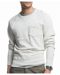 Todd Snyder | Classic Pocket Sweatshirt In Vintage White for Men | Lyst