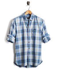 Todd Snyder - Slim Fit Blue Madras Shirt for Men - Lyst