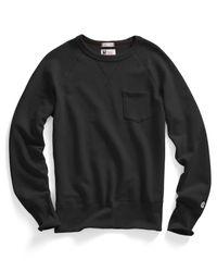 Todd Snyder | Pocket Sweatshirt In Black for Men | Lyst