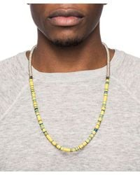 George Frost - Metallic 50/50 Necklace for Men - Lyst