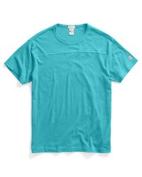 Todd Snyder - Blue Football T-Shirt In Aquamarine for Men - Lyst