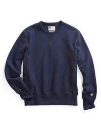 Todd Snyder - Blue Reverse Weave Sweatshirt In Navy for Men - Lyst