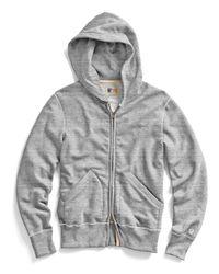 Todd Snyder | Gray Vintage Full Zip Hoodie In Grey Heather for Men | Lyst