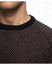 Todd Snyder | Brown Italian Cashmere Herringbone Sweater for Men | Lyst
