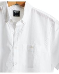 Todd Snyder - Short Sleeve Seersucker Popover Shirt In White for Men - Lyst