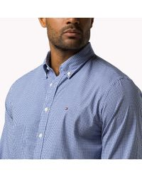 Tommy Hilfiger - Blue Checked Cotton Shirt for Men - Lyst