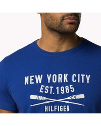 Tommy Hilfiger | Blue Bt Cotton Crew Neck T-shirt for Men | Lyst