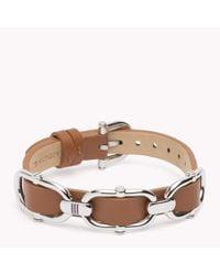 Tommy Hilfiger | Brown Leather Bracelet | Lyst