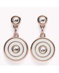 Tommy Hilfiger   Metallic Coin Drop Earrings   Lyst