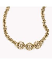 Tommy Hilfiger - Metallic Signature Necklace - Lyst