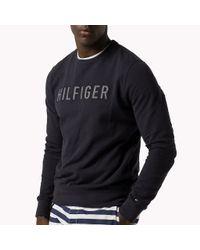 Tommy Hilfiger - Blue Logo Sweatshirt for Men - Lyst