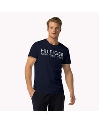 Tommy Hilfiger | Blue Cotton Crew Neck T-shirt for Men | Lyst