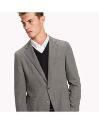 Tommy Hilfiger - Gray Fitted Blazer for Men - Lyst