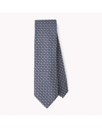 Tommy Hilfiger - Blue Printed Silk Tie for Men - Lyst
