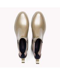 Tommy Hilfiger - Metallic Ankle Rain Boot - Lyst