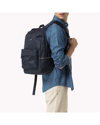 Tommy Hilfiger - Blue Woven Backpack for Men - Lyst