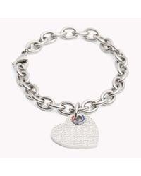 Tommy Hilfiger - Metallic Heart Bracelet - Lyst