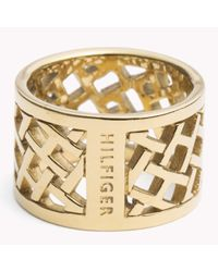 Tommy Hilfiger | Metallic Lattice Ring | Lyst